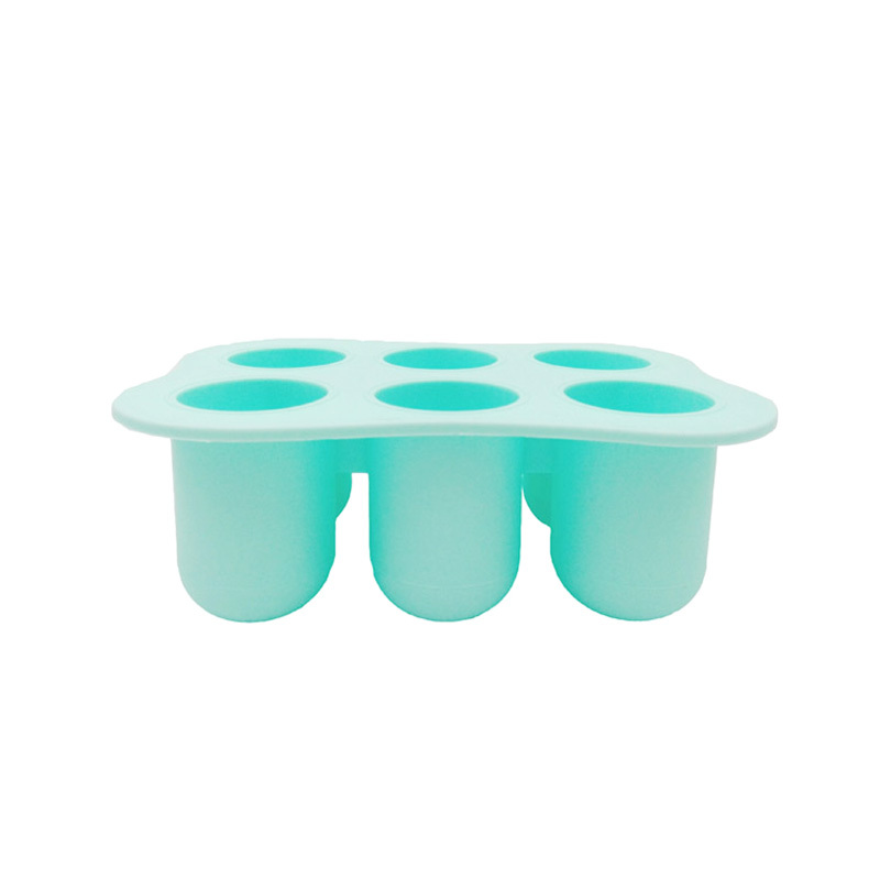 6 Cups Food Grade Silicone Baby Food Freezer Storage Tray