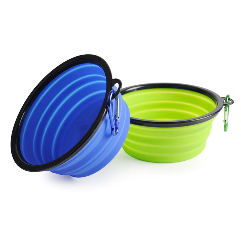 Silicone foldable travel pet dog feeder bowl