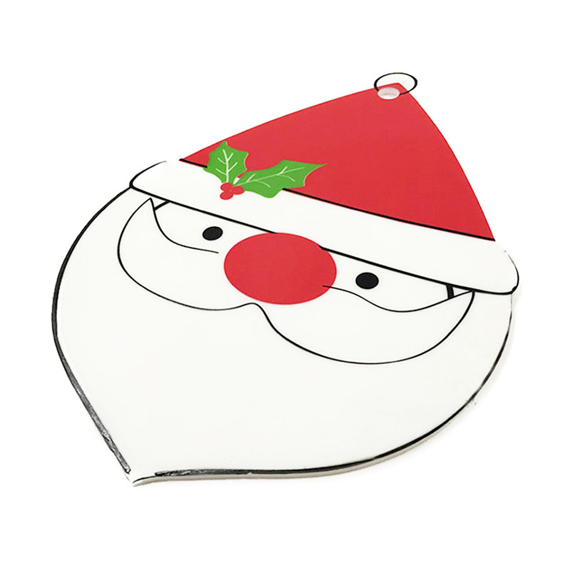 Christmas Series Non Slip Pads Heat Insulated Silicone Cup Mats Bowl Mats