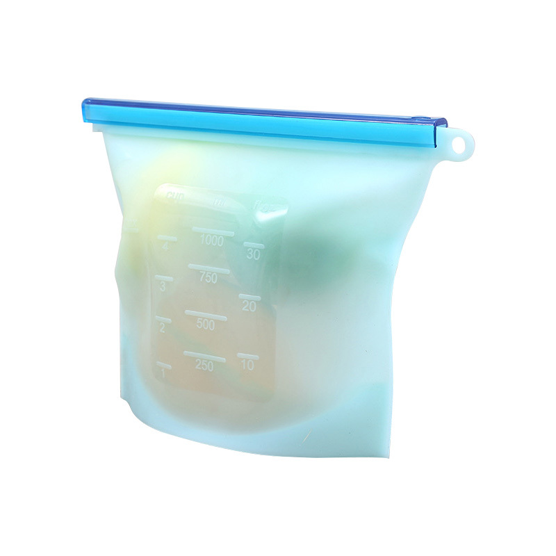1000ml Food grade reusable silicone food storage bag