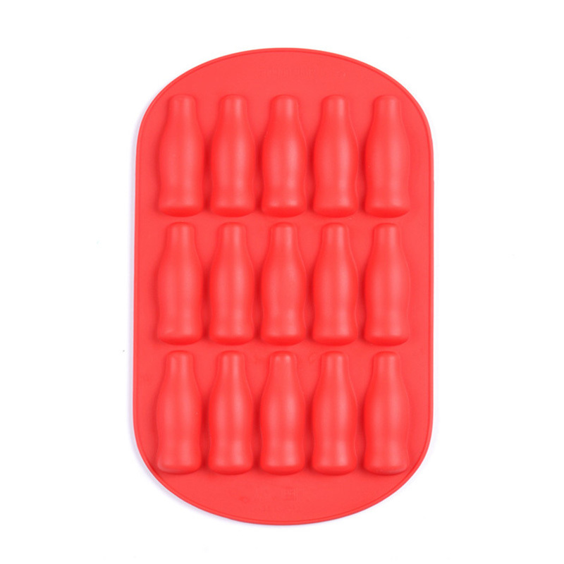 SEDEX 4 pillar factory custom logo silicone bottle shape ice cube tray