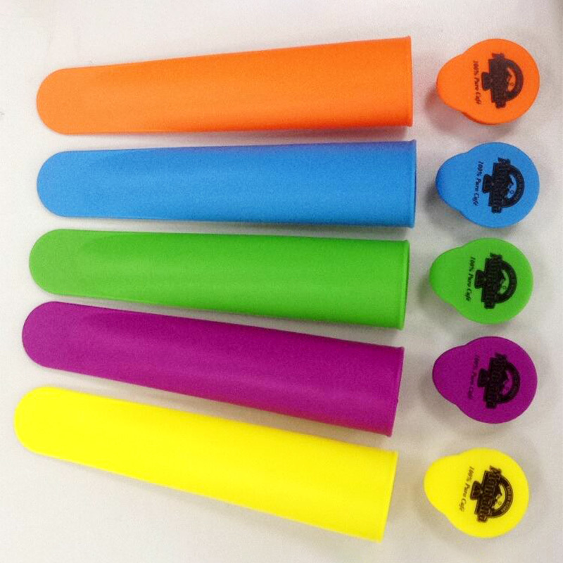 Silicone Popsicle Mold Ice Cream Cone Mold Ice Lolly Mold with Lid